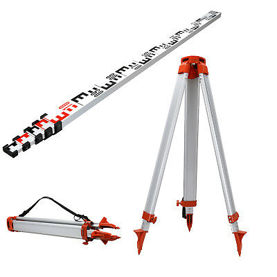 5m Staff 1.65m Aluminum Tripod Set For Laser Levelling Construction Surveying
