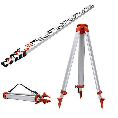 5M Staff + 1.65M Aluminum Tripod Set For Laser Levelling Construction surveying