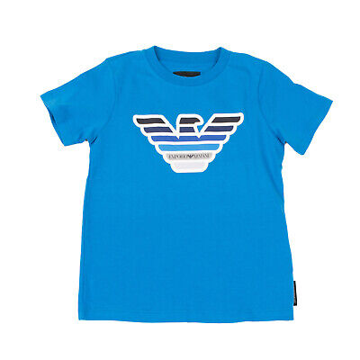 RRP €140 EMPORIO ARMANI T-Shirt Top Size 6Y Coated Logo Short Sleeve 2 PACK