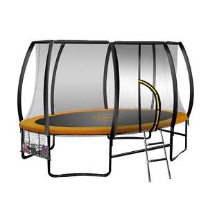 Trampoline 8 ft x 14ft Oval Outdoor - Orange OUM23-tra-fjp-ovl-814