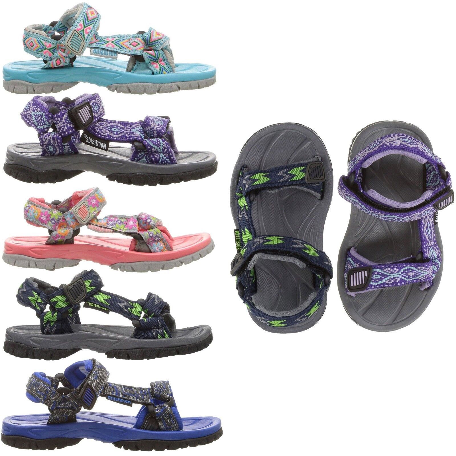 NEW Northside Kids Boys Girls Seaview Sport Sandal Open Toe