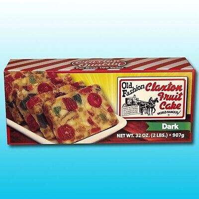 Claxton Fruit Cake 2 Lb. DARK - Shipped Direct From Claxton Bakery, Inc.