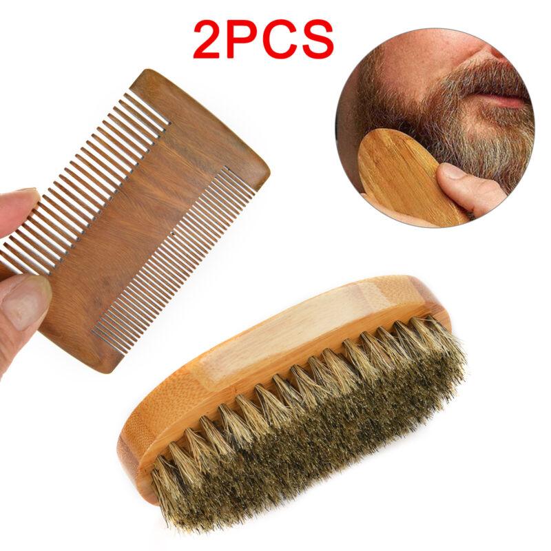 Gents Mens Boar Bristle Shaving Moustache Beard Brush And Co