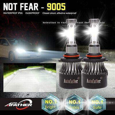 HB3 9005 Pair LED Headlight Conversion Kit 1500W 225000LM HI-LO Beam Bulbs 6000K