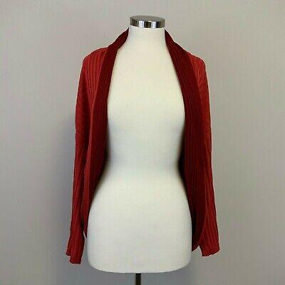 GianFranco Ferre Vintage Red Silk 3/4 Sleeve Cardigan Shrug OneSize