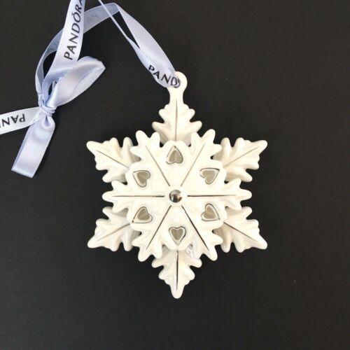 LIMITED EDITION 2015 SNOWFLAKE Genuine PANDORA CHRISTMAS ORNAMENT