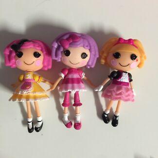 Mini la la loopsy dolls X3 West Beach West Torrens Area Preview
