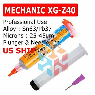 Mechanic Xg-z40 10cc Syringe Solder Paste Flux Sn63pb37 25-45um 10cc Tested
