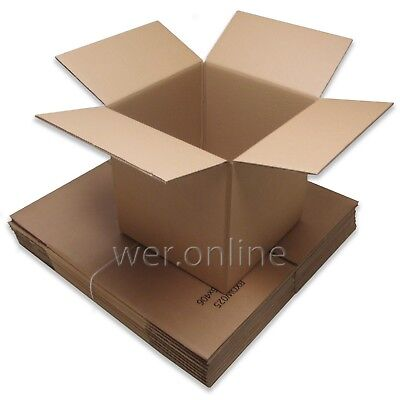 10 x Strong Cubed Storage Cardboard Boxes 16 x 16 x 16