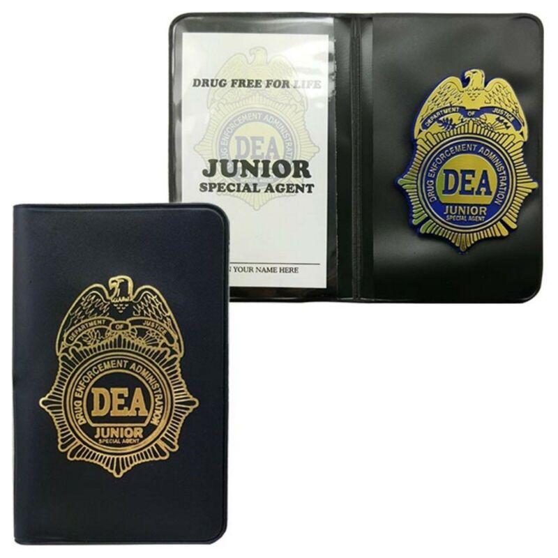 DEA Jr. Toy Plastic Badge & Fill In Credentials +Sticker  Ebay: READ DESCRIPTION