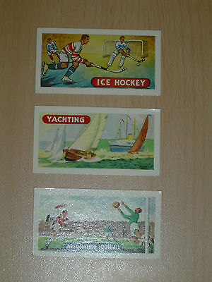 3 Lamberts Tea Cards - Sports and Games