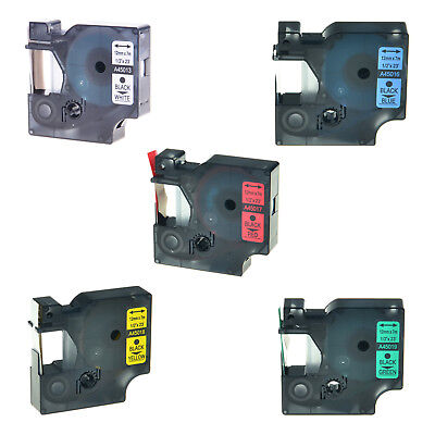 5pk 45013 45016 45017 45018 45019 For Dymo Labelmanager D1 Label Tape 12 X23
