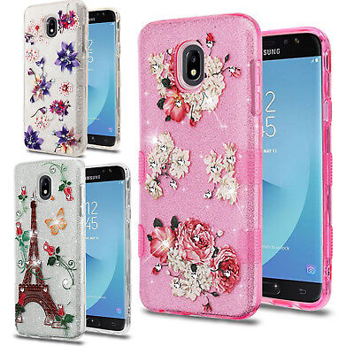 For Samsung Galaxy J7 Refine TUFF SHINE Hybrid Hard Case Rubber Phone Cover