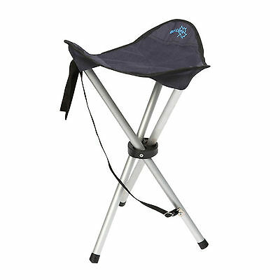 BO CAMP Camping Dreibein Hocker - Angelhocker Anglerhocker Alu Outdoor stabil