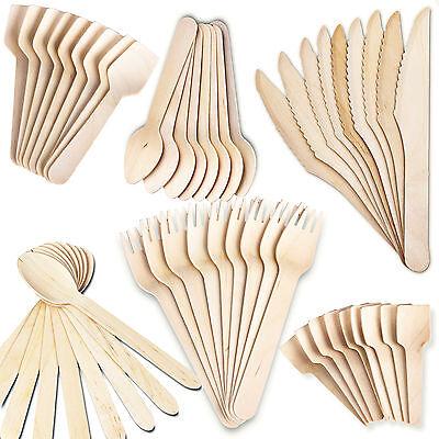usa e getta in legno posate Eco Friendly BIODEGRADABILE Cucchiai PICCHE