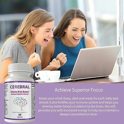 Cerebral Extreme Brain Booster Supplement | Natural Nootropics For Mental Foc... 5