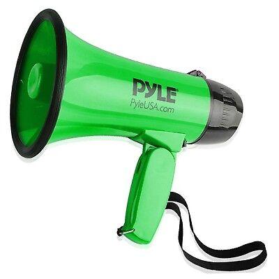 - Pyle Compact Portable Megaphone Speaker Siren Bullhorn (Green)