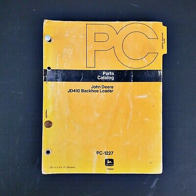 John Deere Jd410 Backhoe Loader Parts Catalog