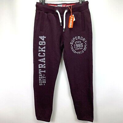 Superdry Mens Trackster Jogger Sweatpants Purple M