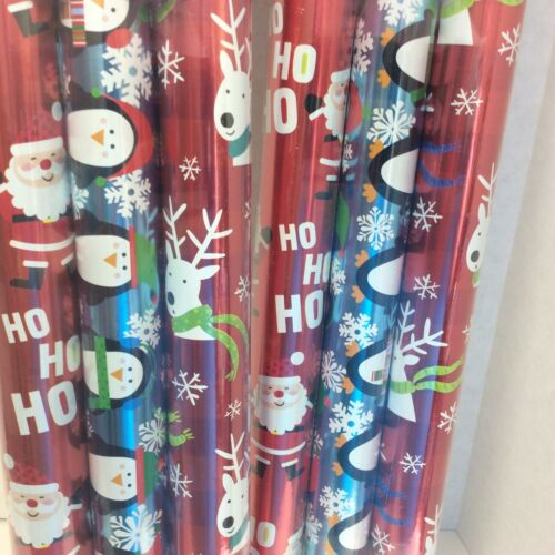 Hallmark Christmas Wrapping Paper 6 Rolls-Two sided gift wrap 240 Square Ft