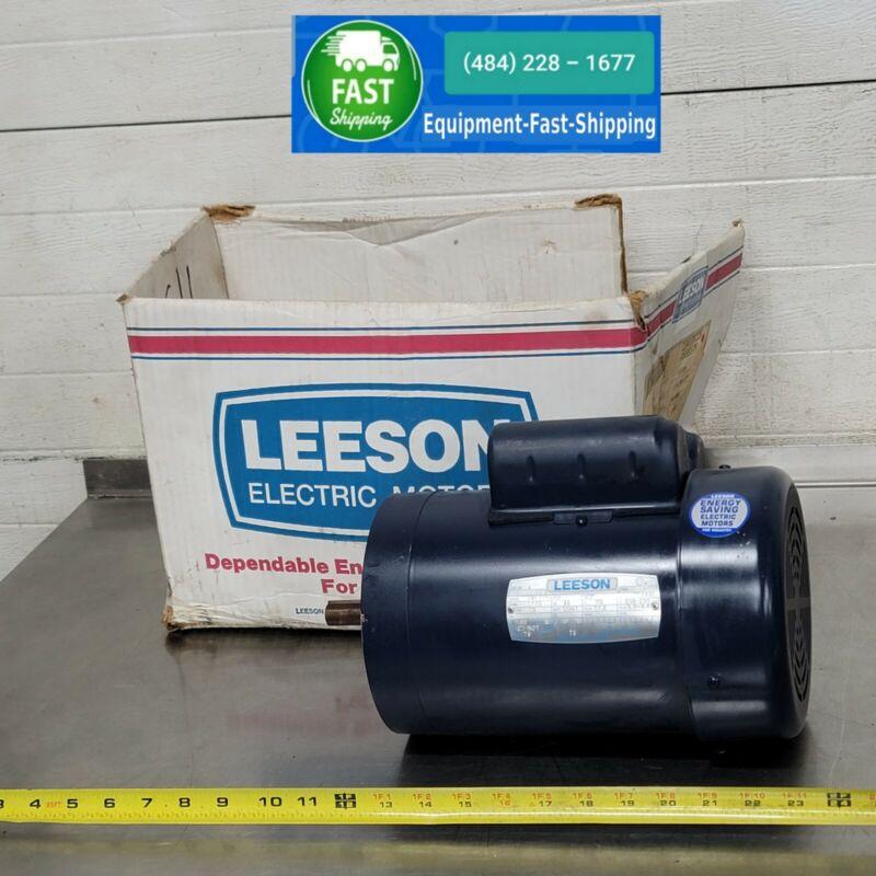 "Leeson 1.5 1-1/2  HP 5/8"" Diameter Electric 56 Frame Motor CSK17FC2G NEW"