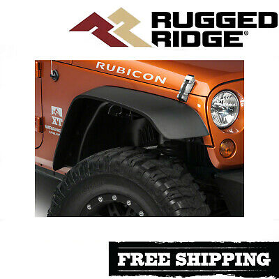 Rugged Ridge All Terrain Fender Flare Kit Fits 2007-2018 Jeep Wrangler JK All Terrain Fender