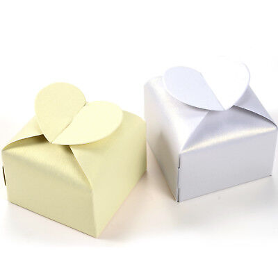 50x Heart Favor Gift Candy Boxes Cake Style for Wedding Party Baby Shower New - Wedding Boxes For Favors
