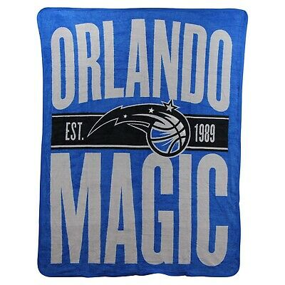 Orlando Magic Super Plush Micro Raschel 46x60 Soft Throw Blanket Basketball