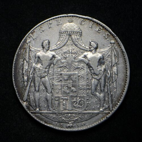 1840 Denmark Silver Speciedaler Coin (cn7132)