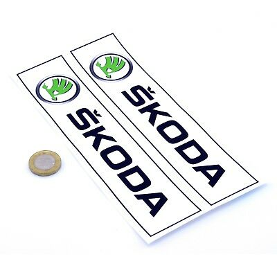 Skoda Oblong STICKERS Badge Decal Vinyl Car 200mm x2 Race Racing Rally