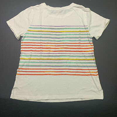 Postmark Anthropologie rolled sleeve cotton, modal t-shirt in stripe Size: Small