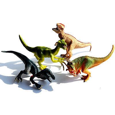 4 Pcs Large Assorted Dinosaurs Toy Plastic Figure Model Kids Children Best Gift