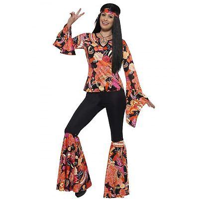 Adult Ladies 70s Willow The Hippy Hippie Festival Woodstock Fancy Dress - Woodstock Festival Kostüm