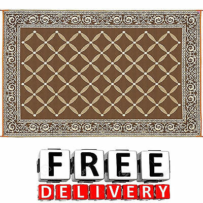 Camping Reversible Mat 9x12' Area Rug Trailer Beach Outdoor Patio RV Accessories