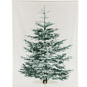 IKEA Christmas Tree Decorative X-MAS Fabric Panel Wall Hanging 82 3/4