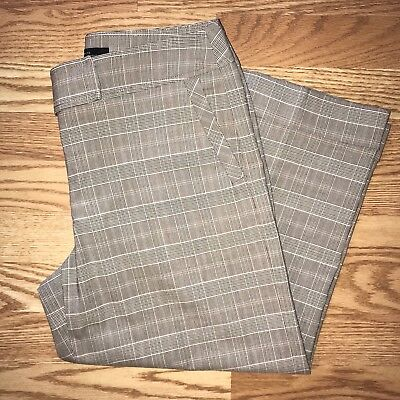 City Unlimited Nyc Pants Plaid Checks Cuffed Career Casual Capri Size 8