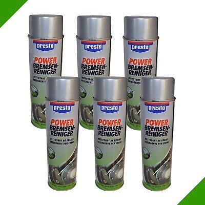 6x 500ml Preso Brake Cleaner Brake Spray Degreaser Spray Spray Can € 4,98 / L E