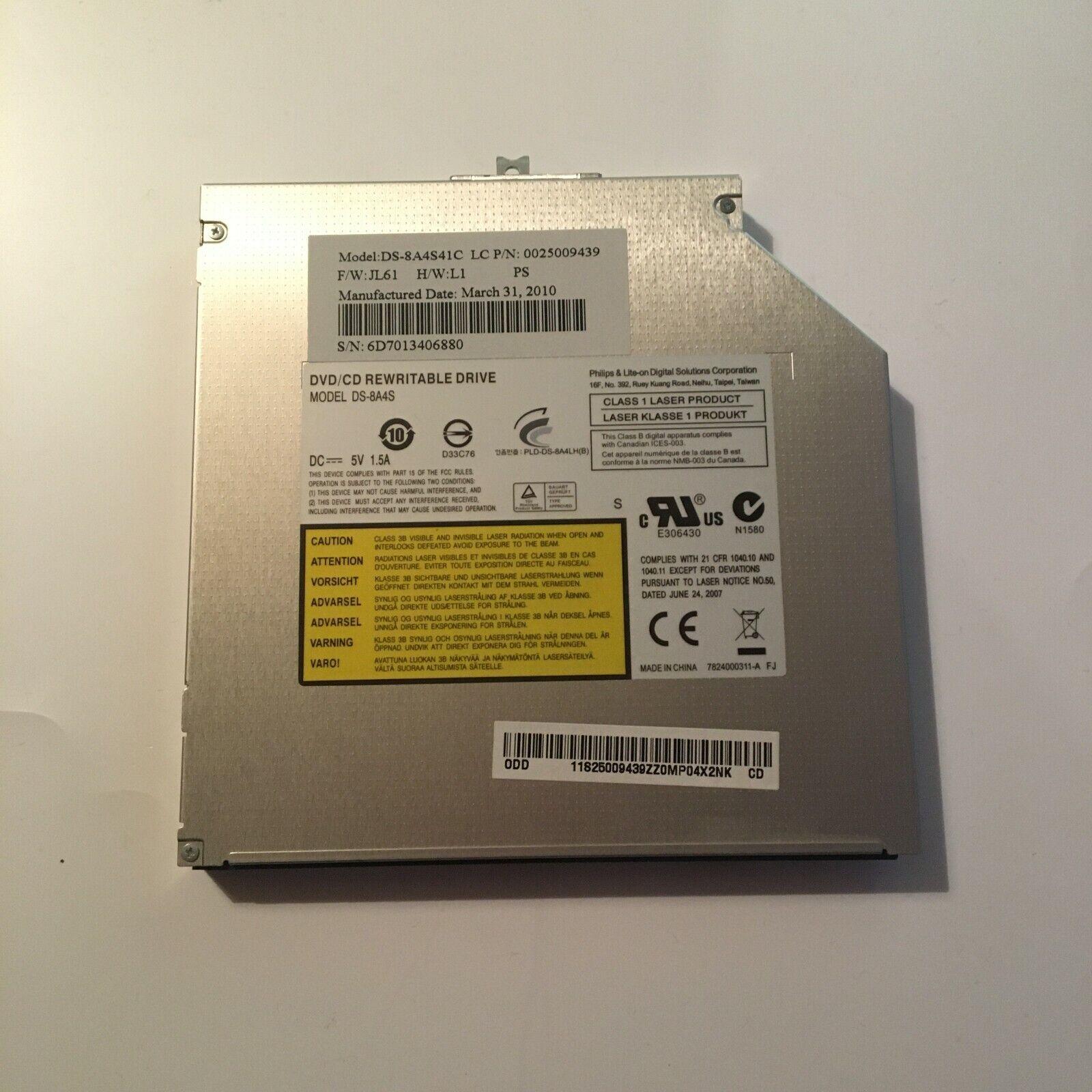 Graveur/lecteur cd et dvd sata interne ds-8a4s pour pc portable