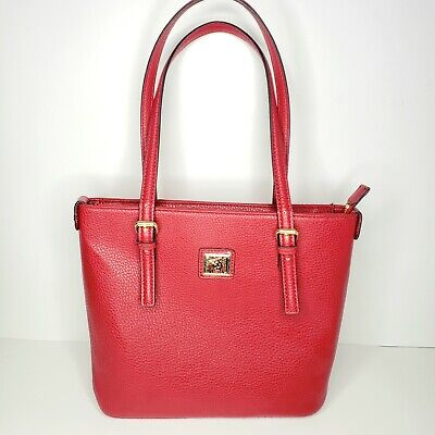 Anne Klein Perfect Tote Women's Red Medium Handbag Purse Adjustable Straps
