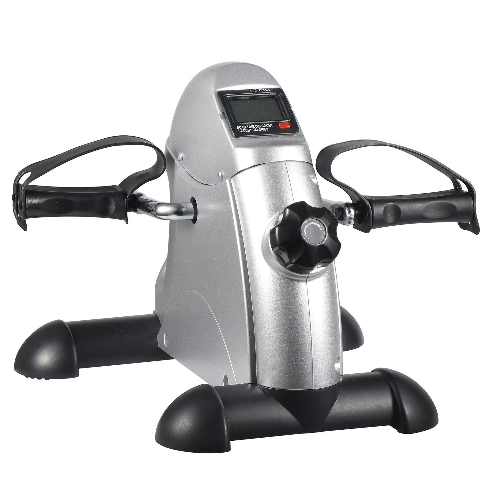 Health Fitness Bike Pedal Exerciser Under Desk Elliptical w/ 8 Levels Resistance
