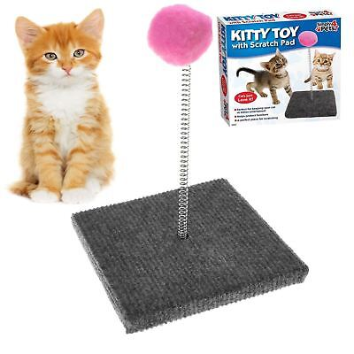 Small pet  Spring Moving Play Toy With Scratcher Scratching Pad Ball Toy cat dog