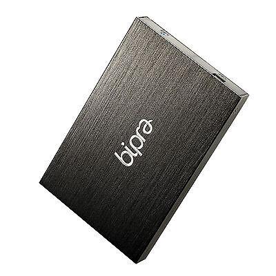 BIPRA MAC Edition 500GB 2.5 Portable External Hard Drive USB 2.0 - Black
