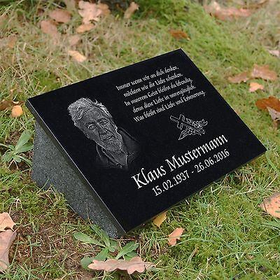 Grabschmuck aus Schiefer Trauerspruch Unsere Liebe Grabstein Grabplatte 30x20cm