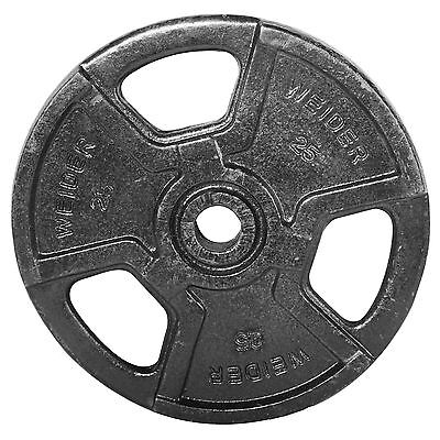 Weider 25 lb. Standard Handle Plate (Black) Free Shipping New