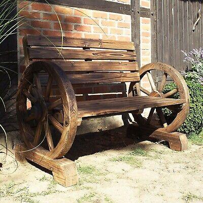 Gartenbank  Wagenrad Impressionen Shabby Chic  Massivholz  ca.15 kg