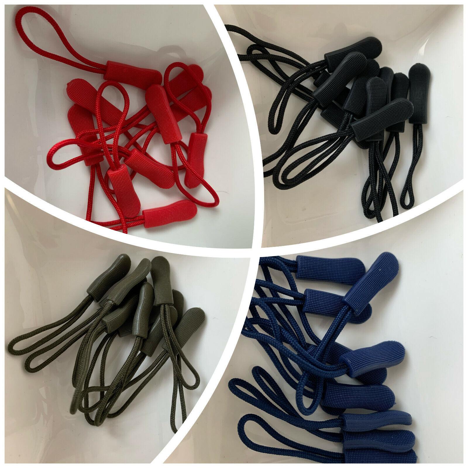 10 Zipper Schlaufen Reißverschluss Verlängerung Reißverschlussanhänger