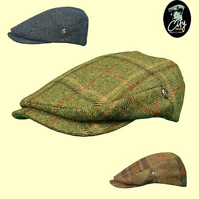 CITY SPORT Cap Wool Tweed Cashmere Large Peak 1920's Cap Sizes 56 to 61cm ()