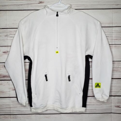 Vintage Adidas Equipment Sample 1/4 zip Pullover White Track Jacket Sweater