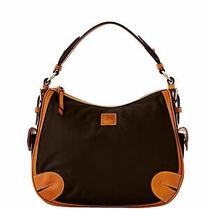 Dooney & Bourke Nylon Side Pocket Hobo, Black