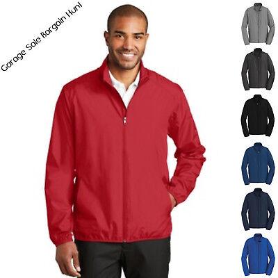Mens Golf Rain Jacket Lightweight Full Zip Water Wind Resistent J344 XS-4XL Zip Wind Rain Jacket